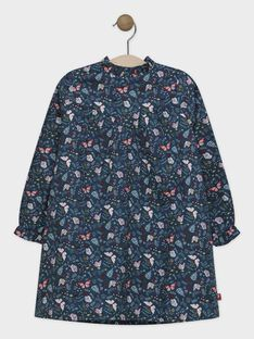 Robe imprimée papillon fille SUBOVETTE / 19H2PFC1ROBG614