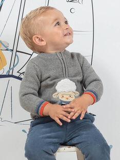 Pull maille gris chiné motif mouton fantaisie bébé garçon BANINO / 21H1BGL1PUL943