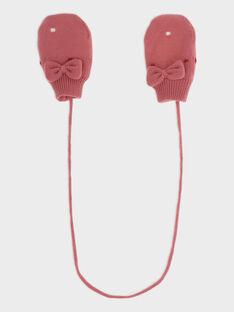Moufles rose bébé fille SANABEL / 19H4BFE1GAN307