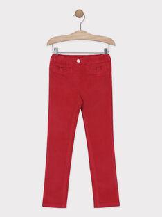Pantalon coupe SLIM en velours fille.  SAVELETTE 1 / 19H2PFH4PAN308
