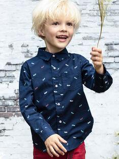 Chemise bleu nuit imprimé skate enfant garçon BABLIAGE / 21H3PG11CHM720