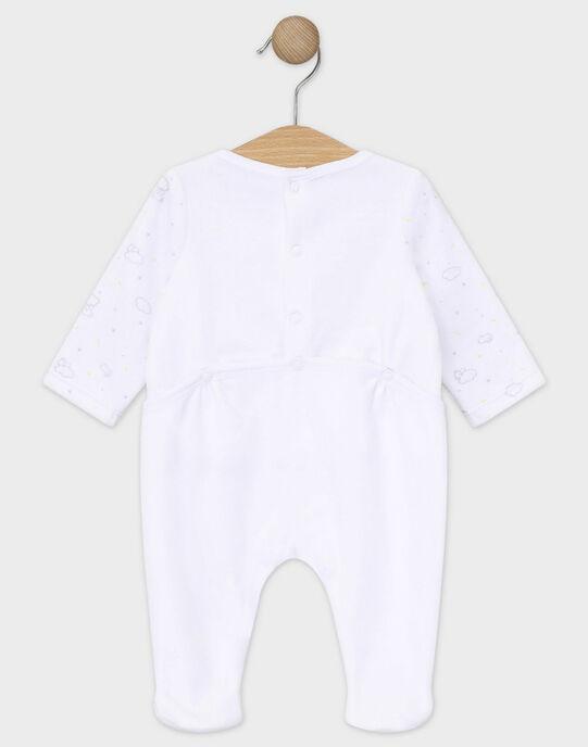 Dors bien en velours écru bébé mixte TYCALIN / 20E0NMF3GRE000