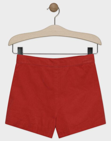 Short en velours orange fille SUBALETTE / 19H2PFC1SHOE406