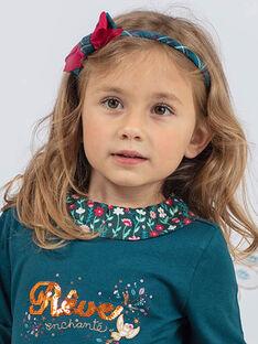 Serre-tête bleu à carreaux et nœud enfant fille BUMATETTE / 21H4PFS5TET714