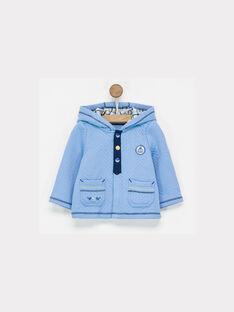 Gilet bleu à capuche NAELOUKA / 18E1BGF1GIL208