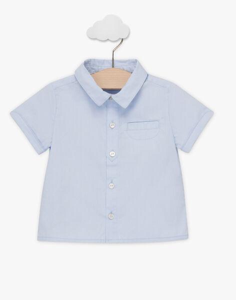Chemise bleu ciel manches courtes et nœud papillon bébé garçon TAJOSEPH / 20E1BGJ1CHM720