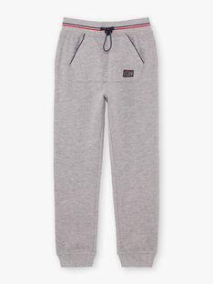 Pantalon de jogging gris chiné enfant garçon BARIAGE2 / 21H3PG32JGB943