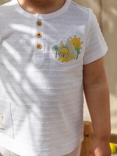 T-shirt manches courtes écru motif fantaisie bébé garçon TARAFFY / 20E1BGQ1TMC001