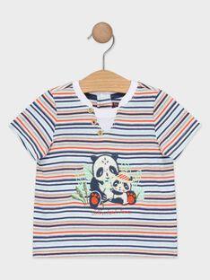 Tee-shirt bébé garçon à rayures  TAPABLITO / 20E1BGP1TMC001