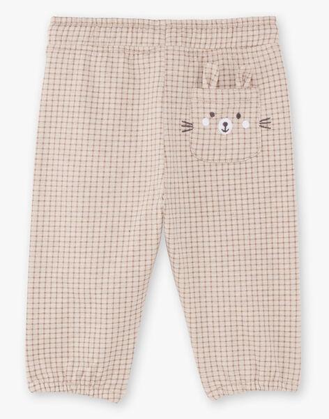 Pantalon gris à carreaux bébé garçon BALAUREL / 21H1BGJ1PAN811