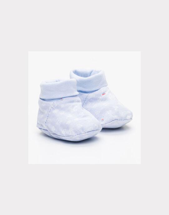 Chaussons Bleu ciel NAANTHO / 18E0AG41CHP020
