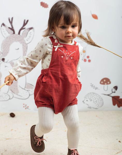 Salopette courte rose motif biche bébé fille BAIRIAM / 21H1BFJ1SACD332