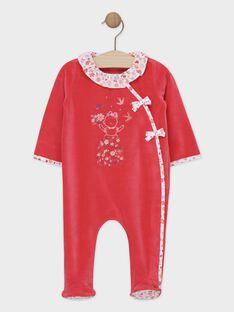 Grenouillere rose bébé fille SEBELLE / 19H5BFK1GRED320