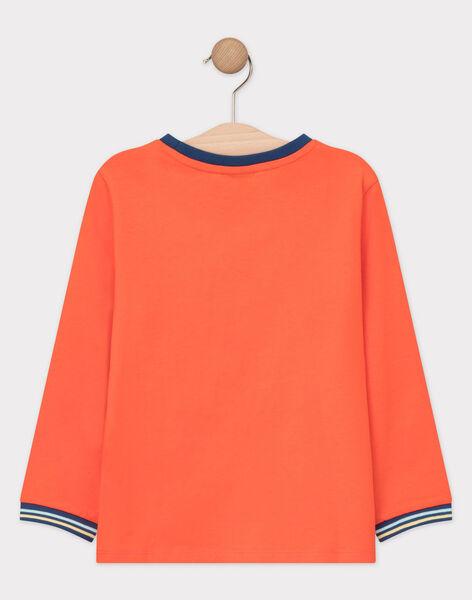 Tee-shirt à manches longues orange garçon  TUTILAGE 2 / 20E3PG92TMLE400