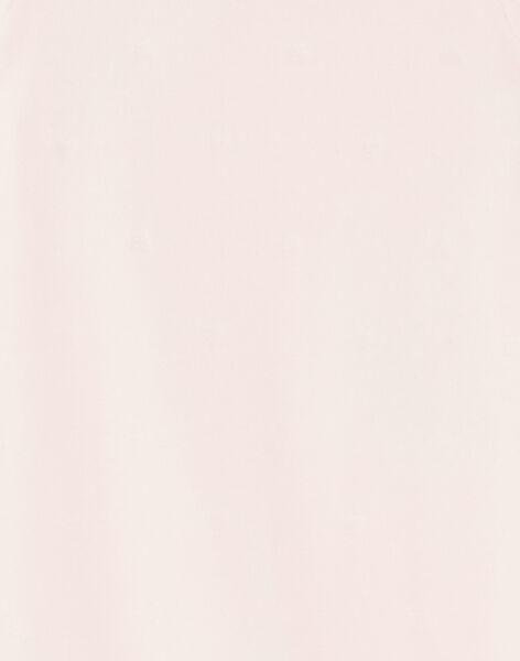 Grenouillère rose en velours dévoré cœur  ZECHAT / 21E5BFH1GRED326