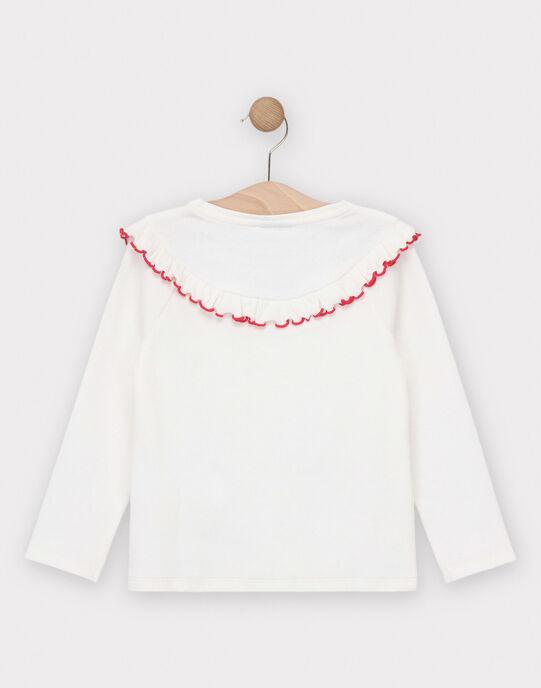 T-shirt manches longues écru fille  TOUTIETTE 2 / 20E2PF91TML001