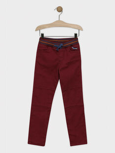 PANTALON coloris bordeaux SEPANTAGE / 19H3PGI1PAN503