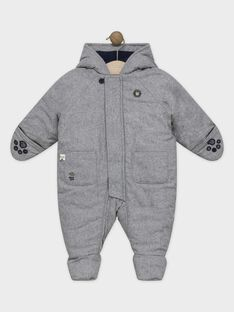 Pilote bébé garçon gris chiné  SIPABLITO / 19H1BGF3PIL943
