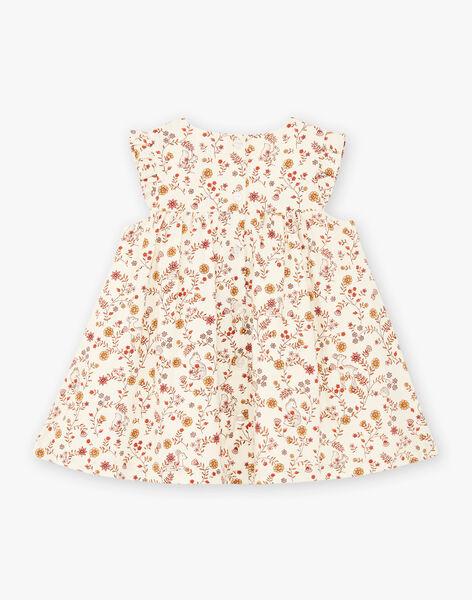 Robe écrue imprimé fleuri bébé fille BAIME / 21H1BFJ1CHS001