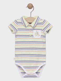 Body bébé garçon à rayures  TAWALTER / 20E1BGX1BOD406
