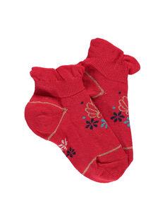 Chaussettes basses rouge REPOLETTE / 19E4PFE1SOB050