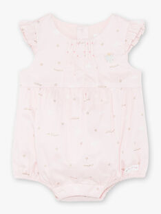 Ensemble body, barboteuse et collants bébé fille ZOZAN / 21E0CFG1ENS000