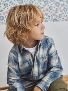 Chemise en tartan bleue enfant garçon BOPLOAGE / 21H3PGO1CHMC233