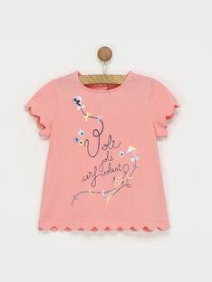 Tee shirt manches courtes rose ROLALETTE / 19E2PFD2TMC404