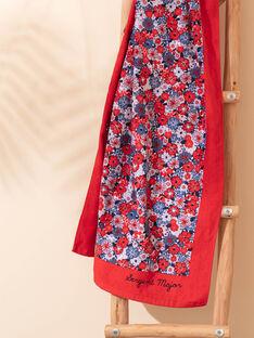 Drap de plage rouge à imprimé fleuri enfant fille ZAIVYETTE / 21E4PFR1SRV050
