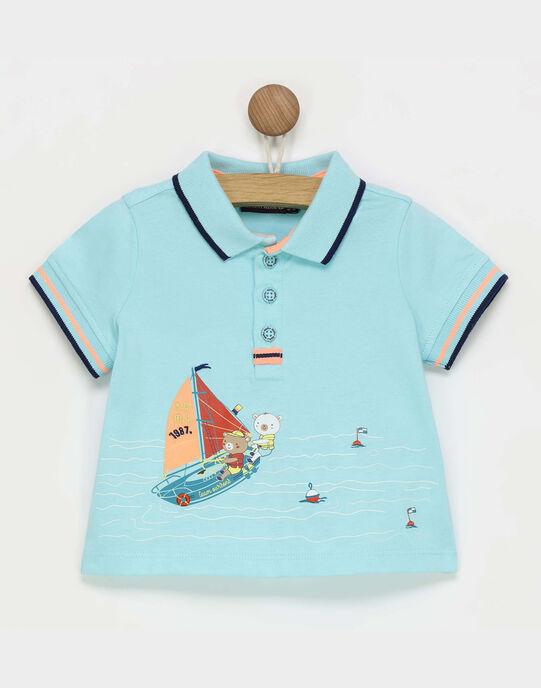 Polo turquoise RAGARRET / 19E1BGD1POL203