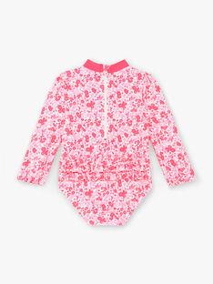 Maillot de bain 1 pièce anti-UV rose fluo bébé fille ZISAVANA / 21E4BFR1BUV001