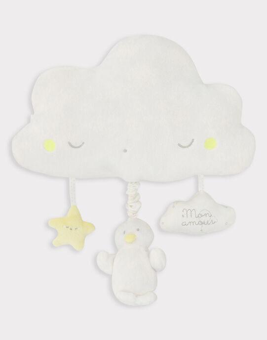 Doudou musical nuage blanc bébé mixte TYMUSIC / 20EZNAF1DOM000