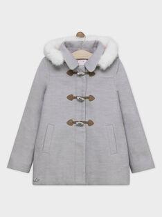 Manteau chaud rose avec capuche.  SOUMINETTE / 19H2PFF2MAN943
