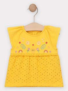T-shirt jaune bébé fille  TAISIS / 20E1BFG1TMC010