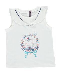 Tee shirt manches courtes blanc REFINETTE / 19E2PFE1TMC001