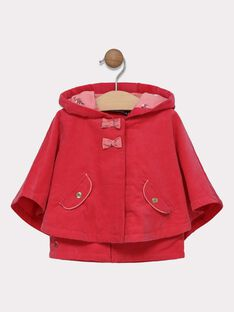 Cape à capuche doublée AOP et veste sans manches intégrée SIMAELLE / 19H1BF71CPED325