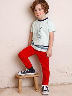 Pantalon rouge avec ceinture ZAGRETAGE / 21E3PGI3PAN050