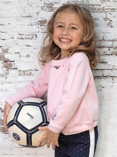Sweatshirt rose à motif fleuri enfanft fille BROSWETTE / 21H2PF31SWED314