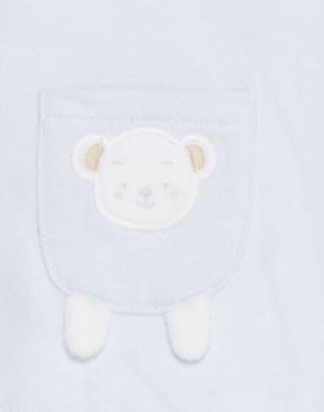 Veste bleue à capuche bébé garçon  TUVICTOR / 20E0CGR1GIL213
