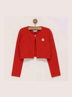 Cardigan rouge RAFULIETTE / 19E2PFC1CARF505