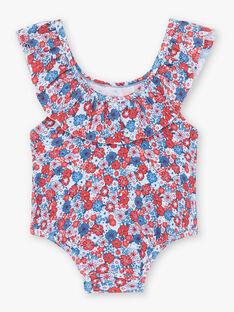Maillot de bain 1 pièce imprimé fleuri bébé fille ZISOLEIL / 21E4BFR1MAI020