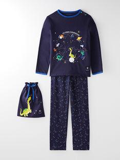 Pyjama et son pochon dinosaure petit garçon  VOYAGE / 20H5PG23PYJ070