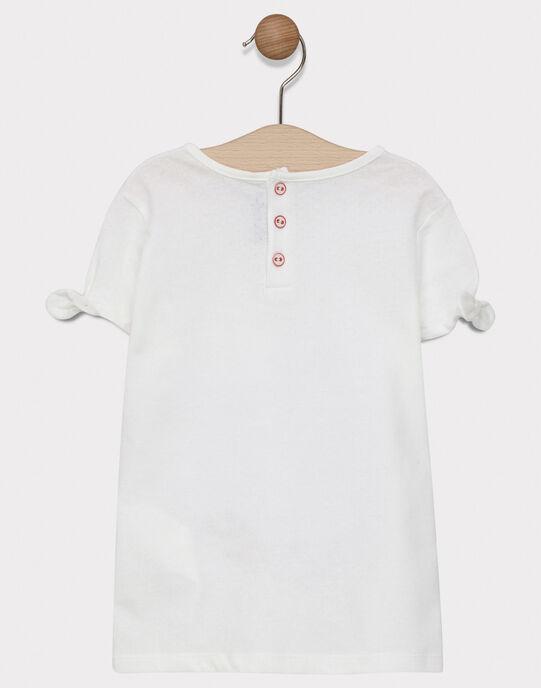 Tee-shirt jersey fantaisie écru fille SALINETTE / 19H2PF32TMC001