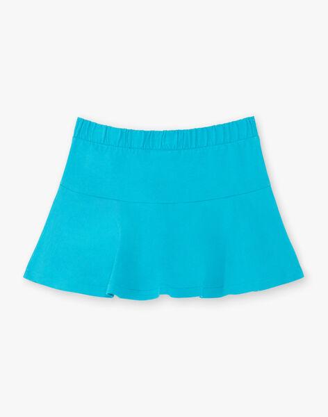 Jupe-short patineuse bleue enfant fille ZLUCETTE2 / 21E2PFL2JUP714
