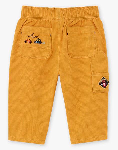 Pantalon jaune bébé garçon BAFAKEAR / 21H1BG51PANB114