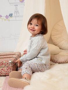 Cardigan maille manches longues gris chiné bébé fille BACANELLE / 21H1BF21CAR943