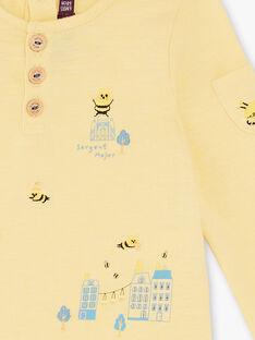 Tee-shirt manches longues jaune clair ZACOLIN / 21E1BG91TMLB103