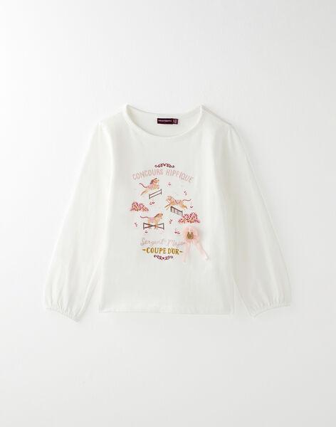 Tee-shirt écru animé VUCLARETTE / 20H2PFQ2TML001