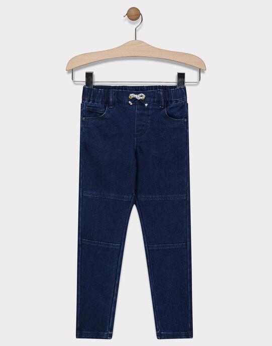 Jeans bleu marine stretch garçon SABAGE / 19H3PG41JEA070