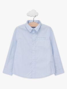 Chemise oxford bleue nœud papillon enfant garçon TIBOAGE / 20E3PGJ4CHM020